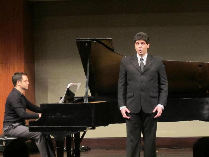 At William and Irene Miller Recital Hall, Manhattan School of Music with Brazilian tenor Adriano Pinheiro.