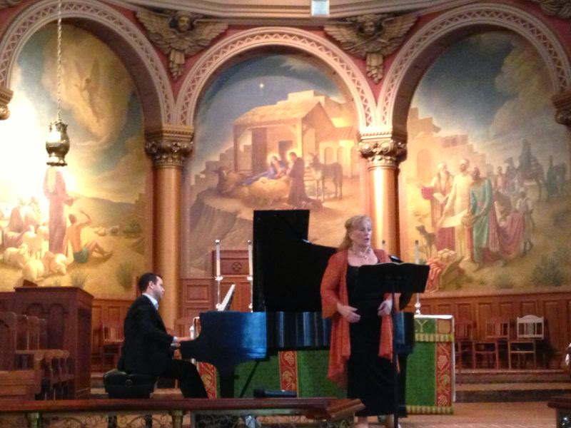 Fábio Bezuti with American soprano Maria Russo at The Church of the Holy Trinity, Philadelphia, July 24, 2014.